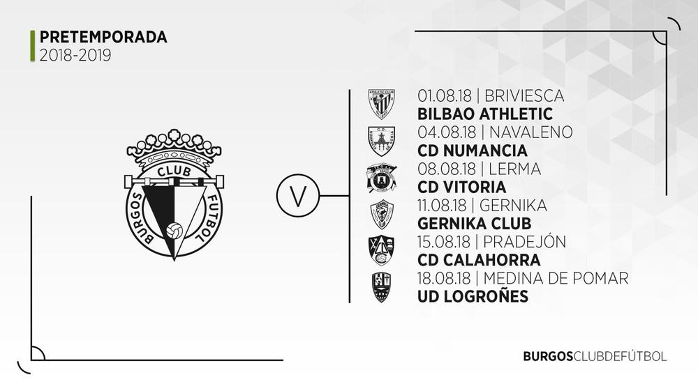Athletic Club Bilbao Calendario.Pretemporada Y Calendario De Partidos Amistosos 2018 2019