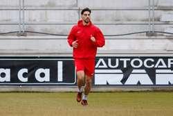 Andrés, durante un entrenamiento.