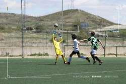 Imagen de uno de los once goles logrados por el Nautalia Viajes.