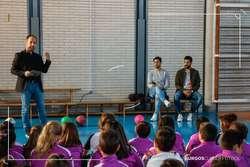 Andrés y Julio Rico han participado en el primer taller, impartido en el Virgen de la Rosa.