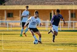 Carlos, con la camiseta del Hyundai A en un partido ante el Valladolid B.