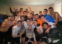 Celebración del Hyundai en Pallafría tras su victoria sobre el Getafe.