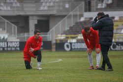 Salmerón pide concentración a sus futbolistas.