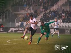 Diosbert Rivero, durante el partido ante la Real Sociedad B.