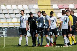 Goti abandona el campo lesionado en el duelo ante el Valladolid B.
