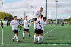 Celebración del 2-0 del Burgos CF Nautalia Viajes, obra de Pablo Arranz.