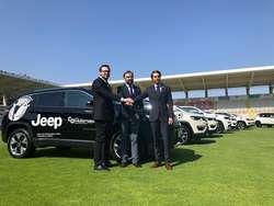 Belli, Alonso y Caselli presentan la alianza entre el Burgos CF y Grupo Julián..