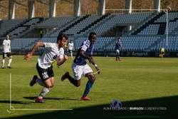 Fer Ruiz, durante el duelo ante el Valladolid B.