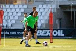 Borja Sánchez, durante un entrenamiento.