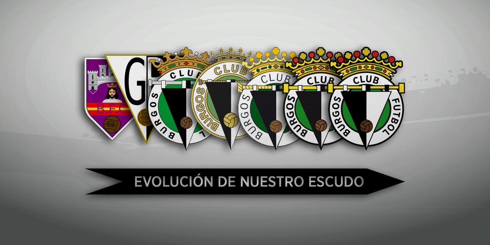 Evolución del escudo del Burgos CF